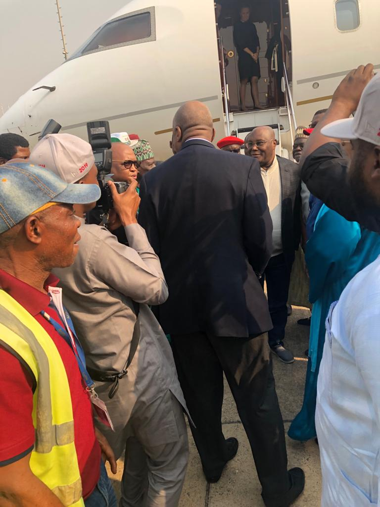 Breaking News: Atiku Returns To Nigeria From The Us (Photos)