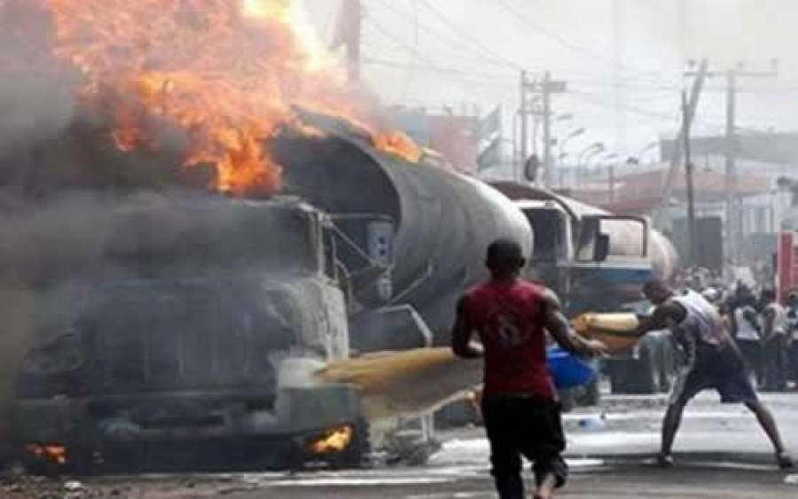 Two Persons Die As Fuel Tanker Explodes In Lagos