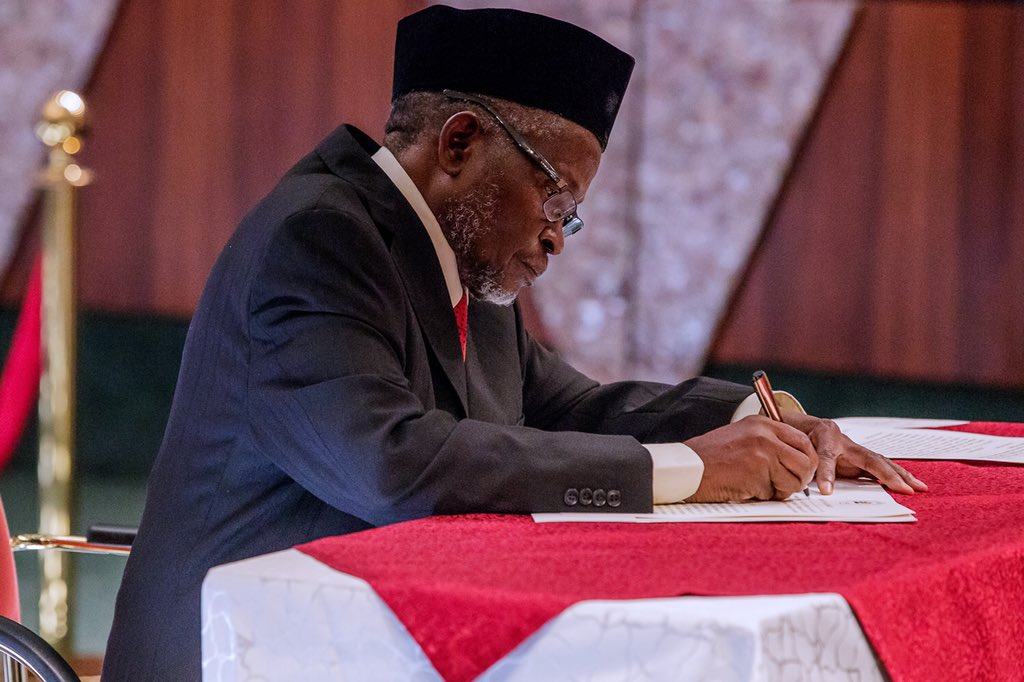 The Senate is currently screening Ibrahim Tanko Muhammad as the substantive Chief Justice of Nigeria in an executive session