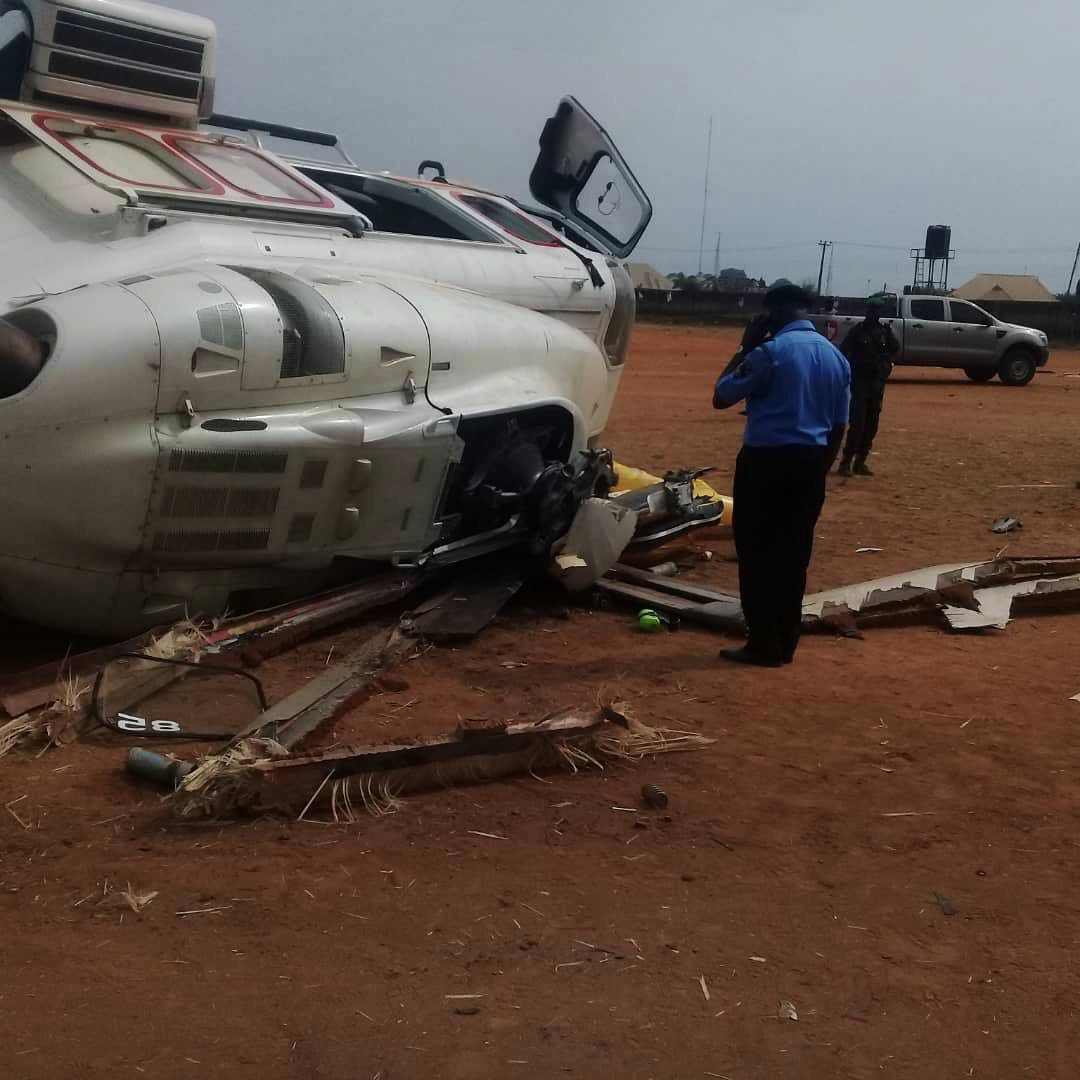 Breaking: Osinbajo's Chopper Crash Lands In Kabba, Kogi