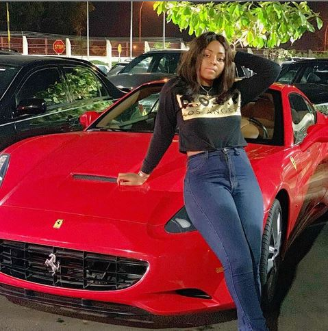 Nollywood star Regina Daniels has again acquired a Posh Ferrari to add to her fleet of cars.
