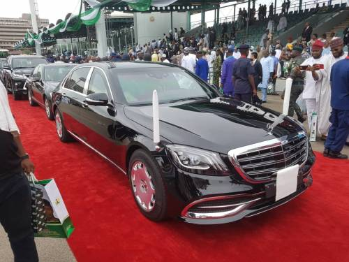 President Muhammadu Buhari, during his inauguration on Wednesday, unveiled a new 2019 Mercedes-Benz S-Class S 560 car.