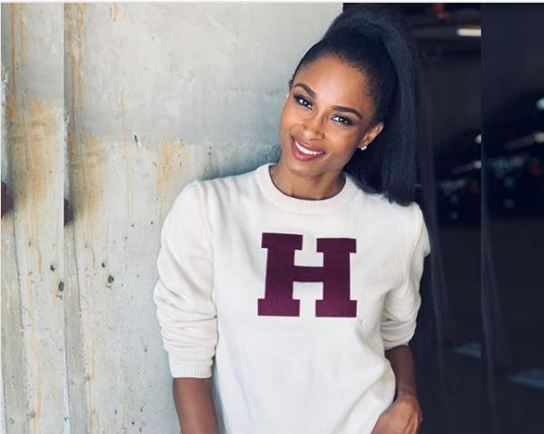 33-year-old American pop star Ciara took to her Instagram to share the good news of finally gaining admission into the prestigious Harvard Business School.