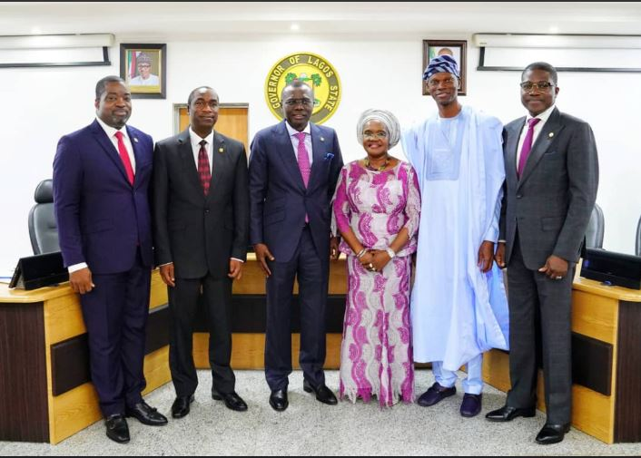 The Lagos State Governor Babajide Sanwo-Olu has official sworn-in new chief of staff, Secretary to the State Government, Deputy Chief of Staff, Permanent Secretaries and Chief Press Secretary.