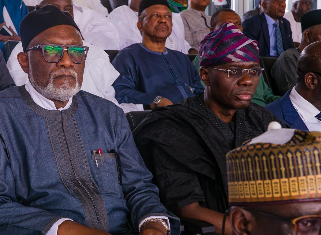 The Lagos State Governor, Mr. Babajide Sanwo-Olu, wife have attended the June 12 Democracy Day celebration venued at the Eagle Square Abuja.