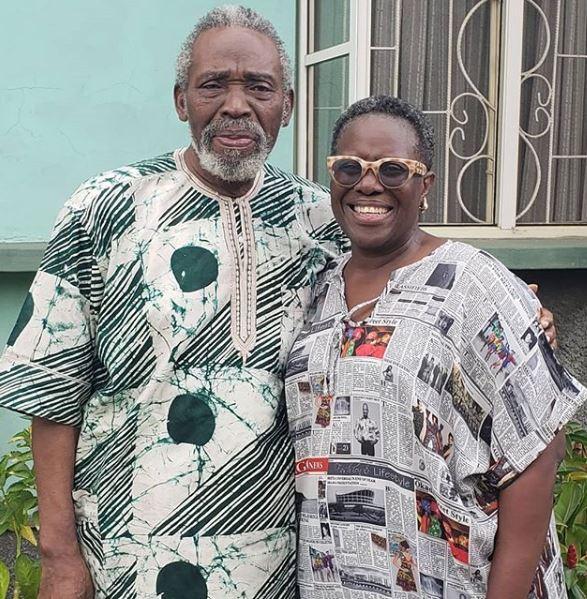 Joke Silva Celebrates Husband, Olu Jacobs At 77