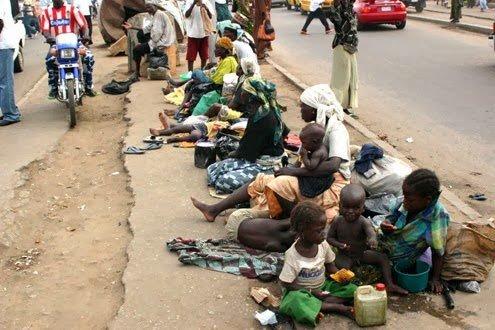 Lagos street begging