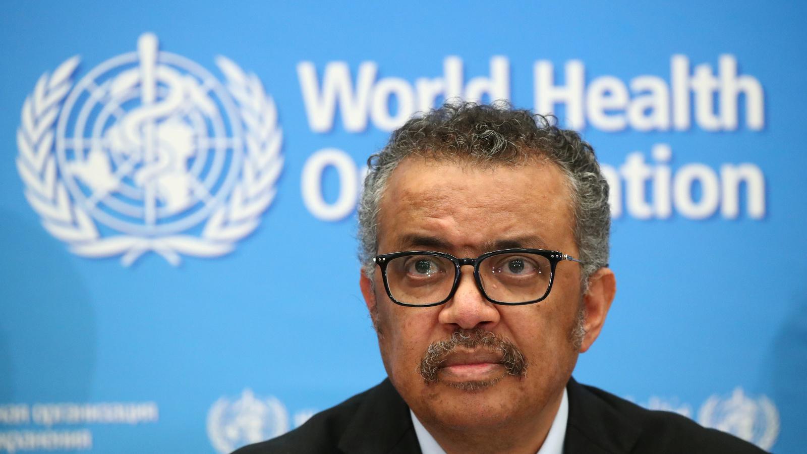 Director-General of the WHO Tedros Adhanom Ghebreyesus