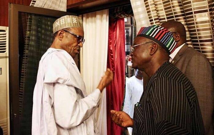 Governor Samuel Ortom and Buhari