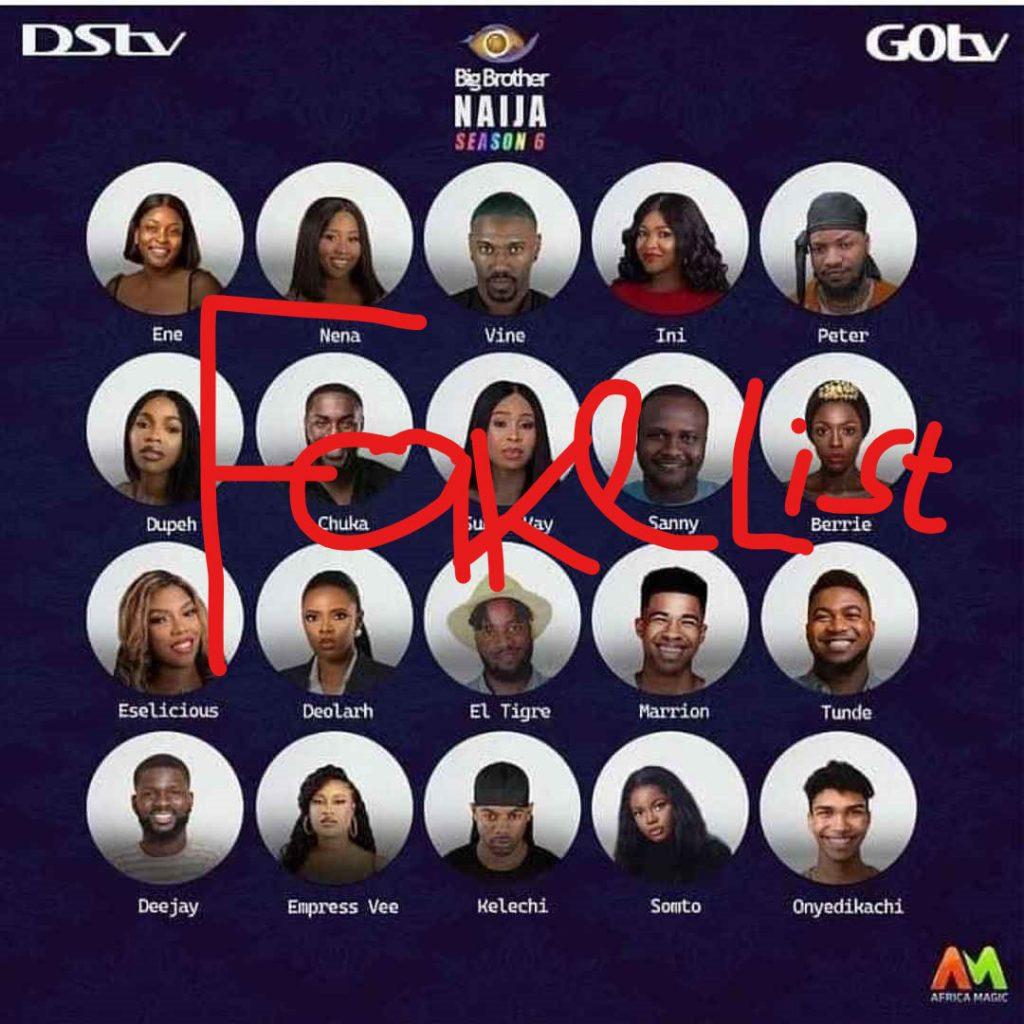 #BBNaija Season 6: Organisers Debunk Fake Housemates List